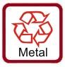 Produkt wykonany jest z metalu