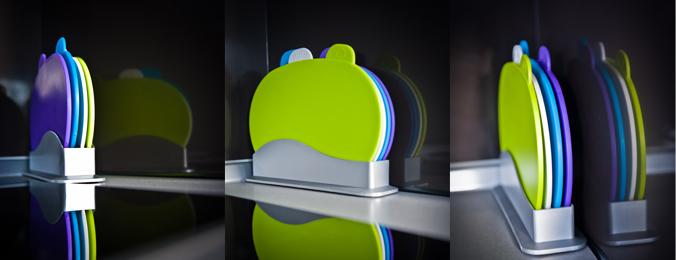 Designerskie deski do krojenia z indeksem - 4 sztuki