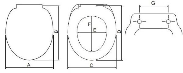 Schemat deski sedesowej WC
